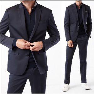 Express men's black suit blazer jacket 36R